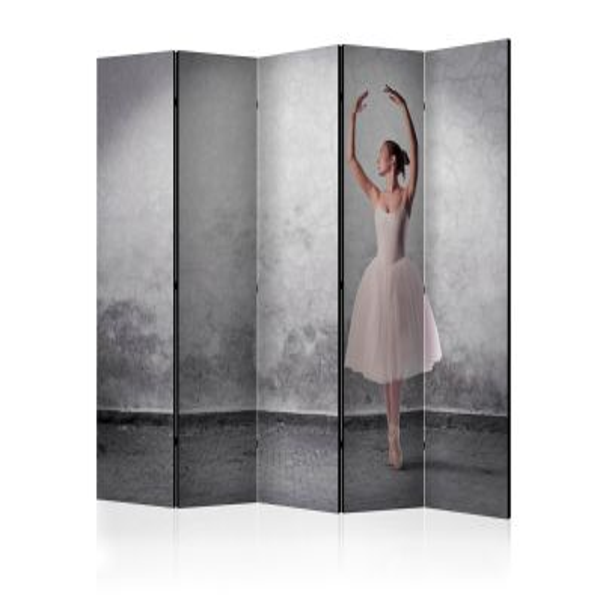 Parawan 5-częściowy - Baletnica niczym z obrazu Degas II [Room Dividers]