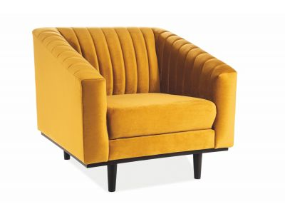 Fotel ASPREY VELVET 1 curry