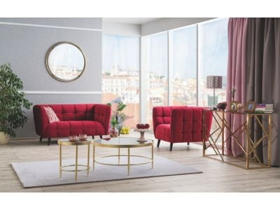 Sofa CASTELLO VELVET 2 bordowa