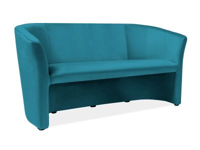 Sofa TM-3 VELVET turkusowa