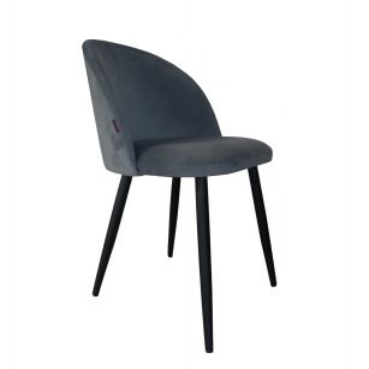Krzesło CLAUDINE 1 BL VELVET ciemno szare