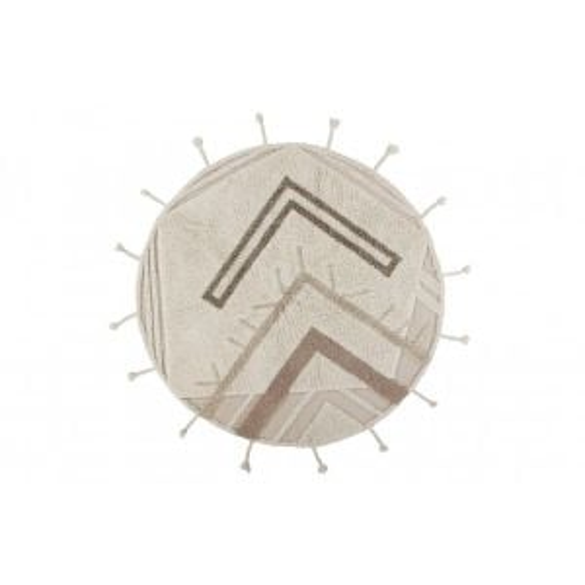 Dywan BANNOCK 160x160 beżowy/brązowy