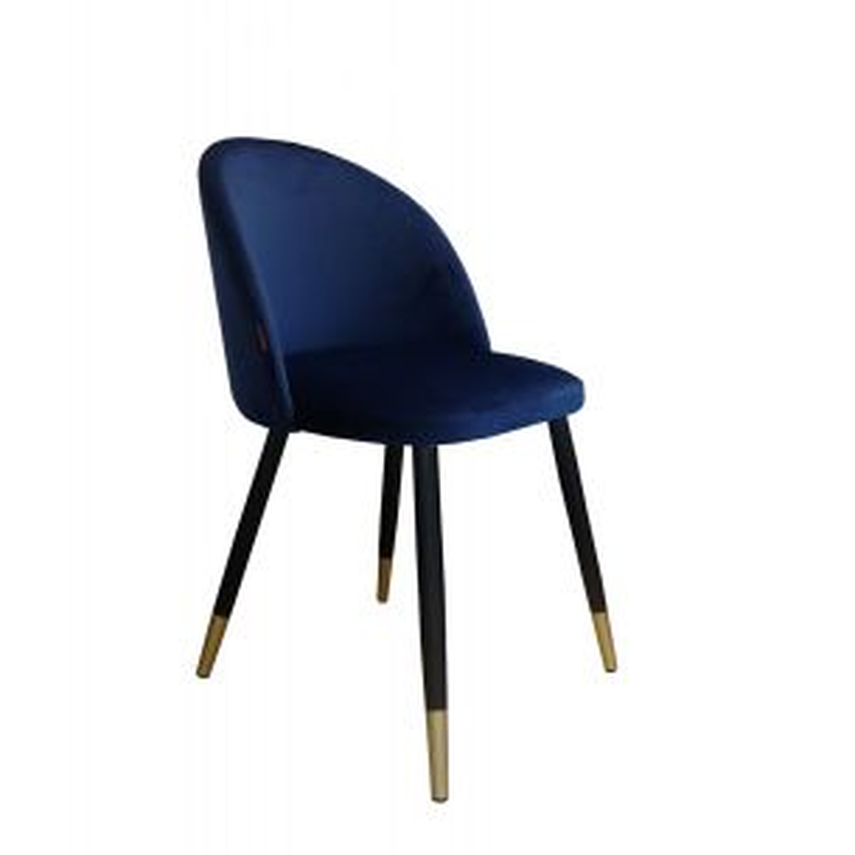 Krzesło CLAUDINE 1 VELVET GOLD granatowe