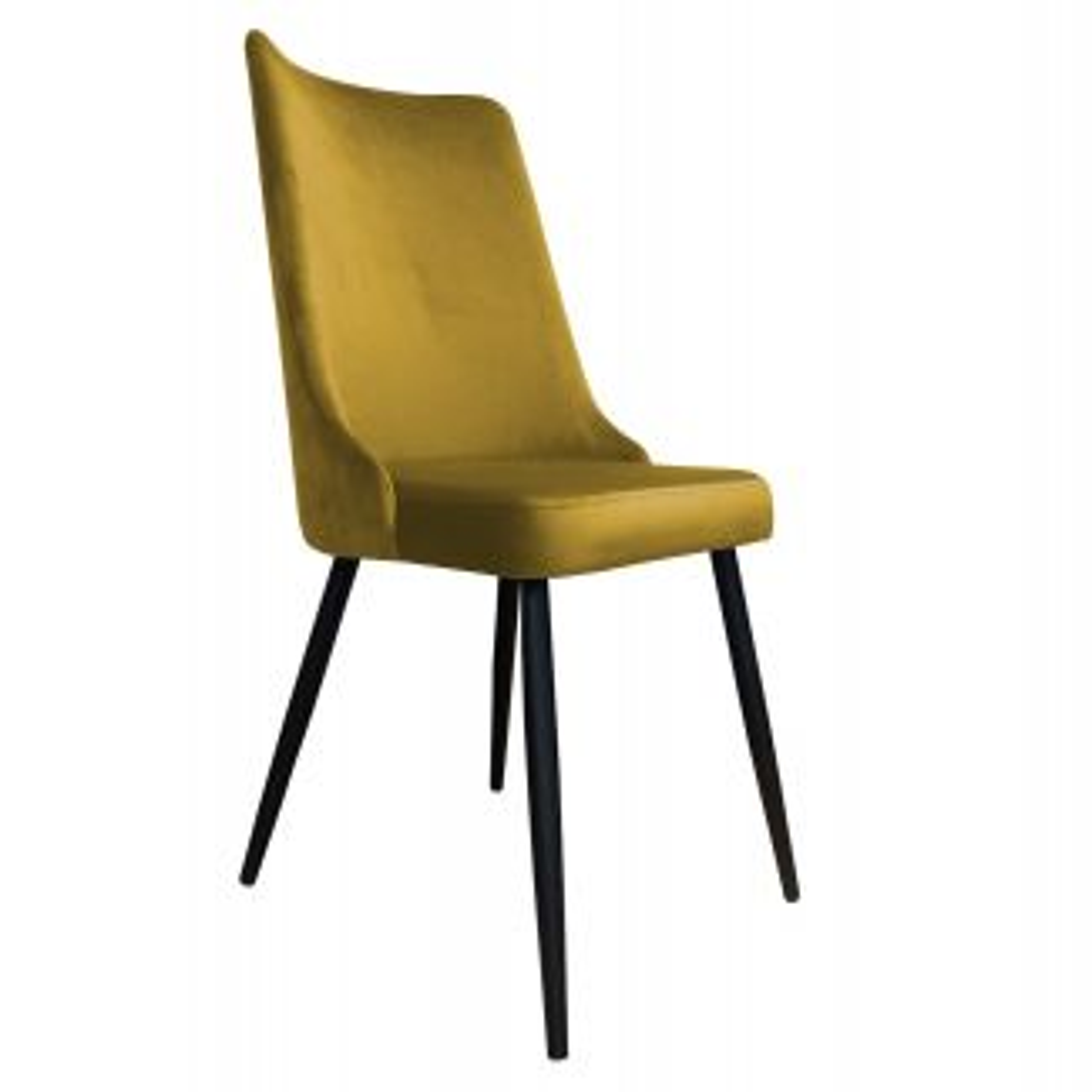 Krzesło CYPRIAN VELVET żółte