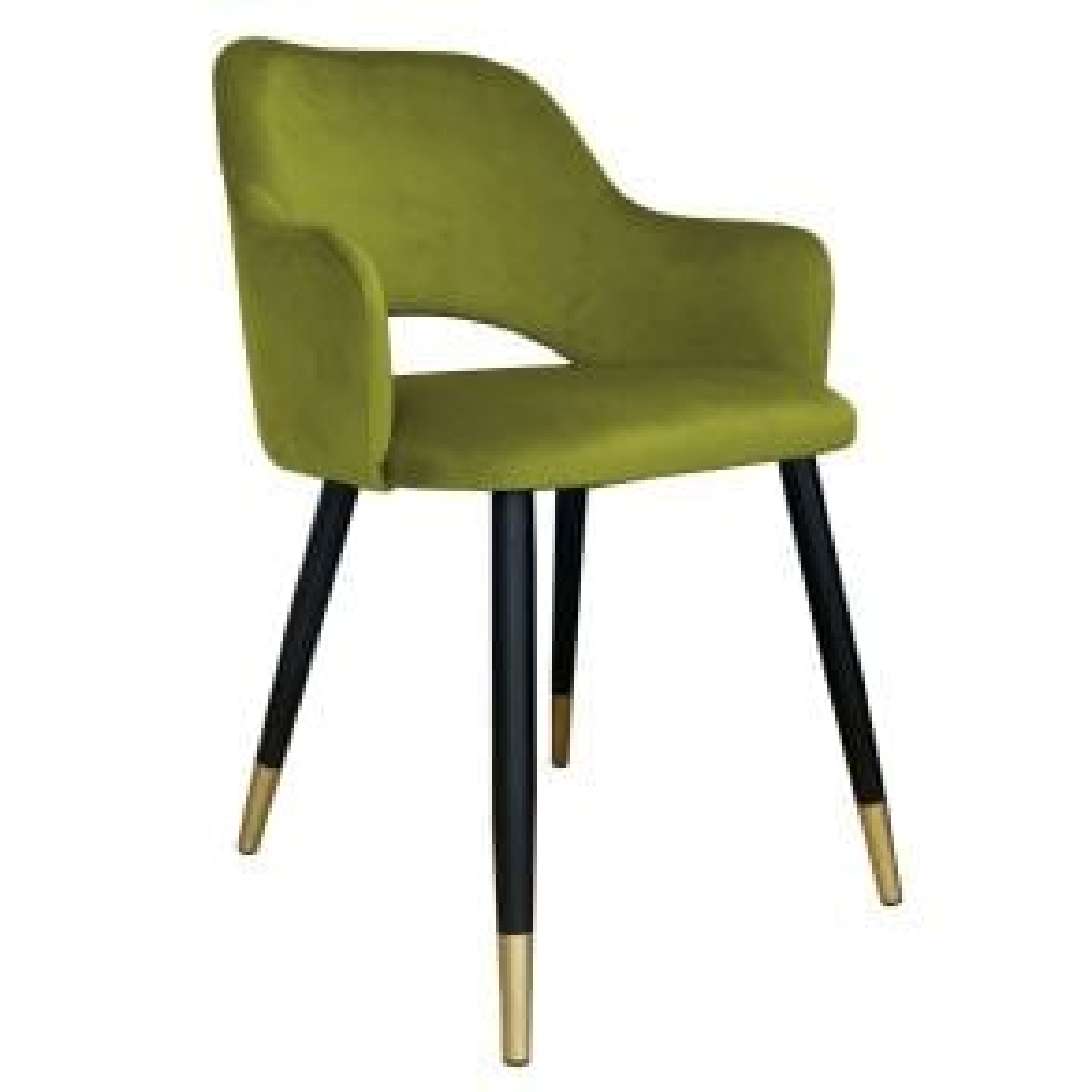 Krzesło NAPO BL VELVET GOLD oliwkowe