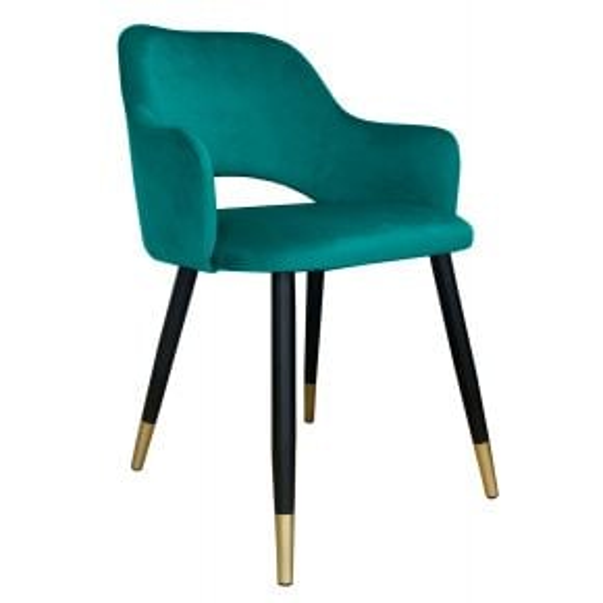 Krzesło NAPO VELVET GOLD morskie