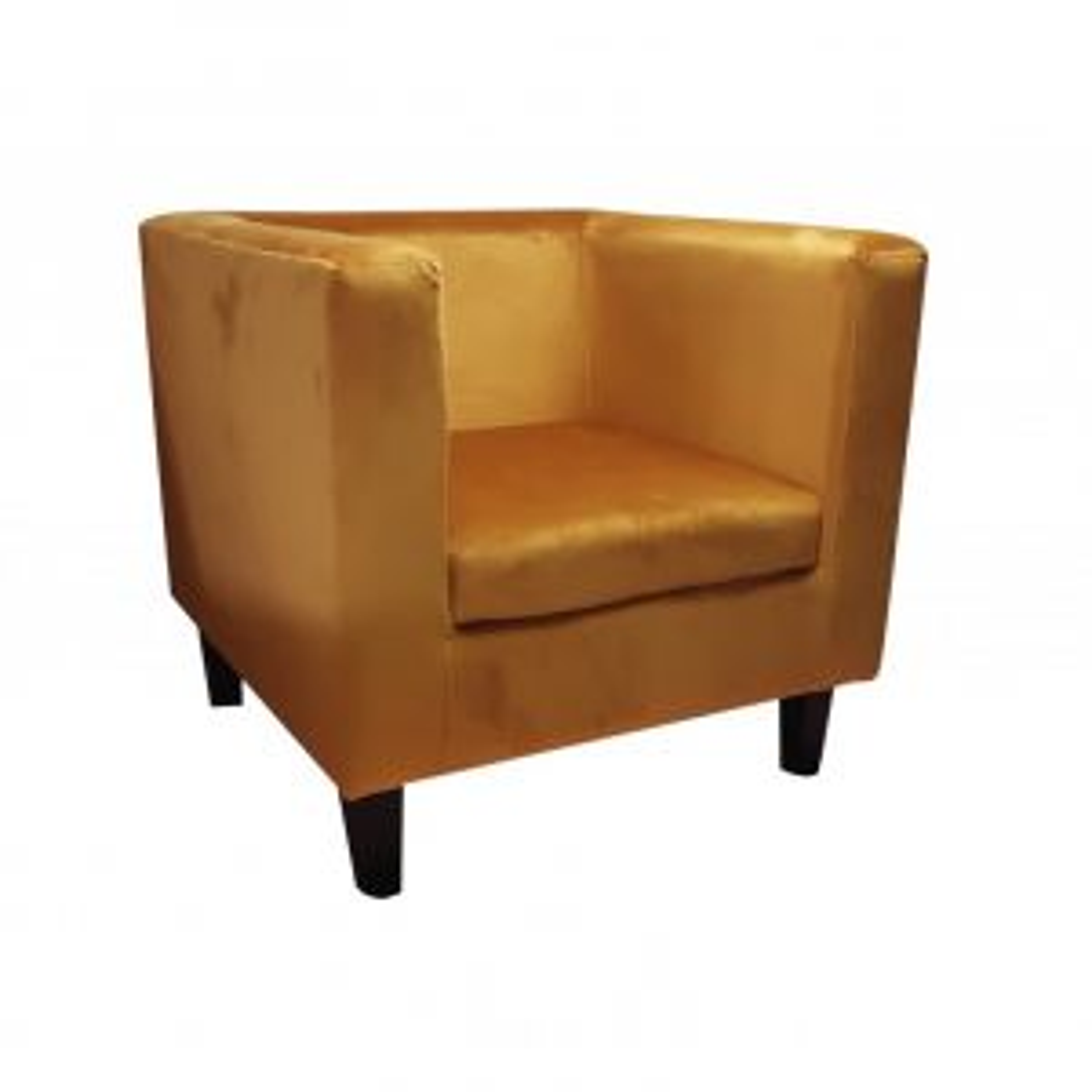 Fotel GRON VELVET żółty