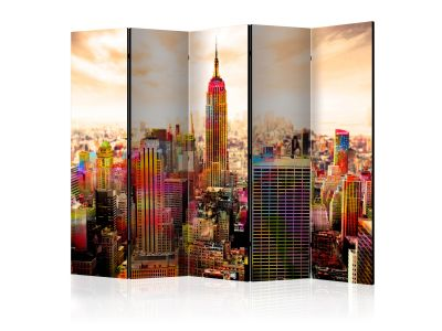 Parawan 5-częściowy - Colors of New York City III II [Room Dividers]
