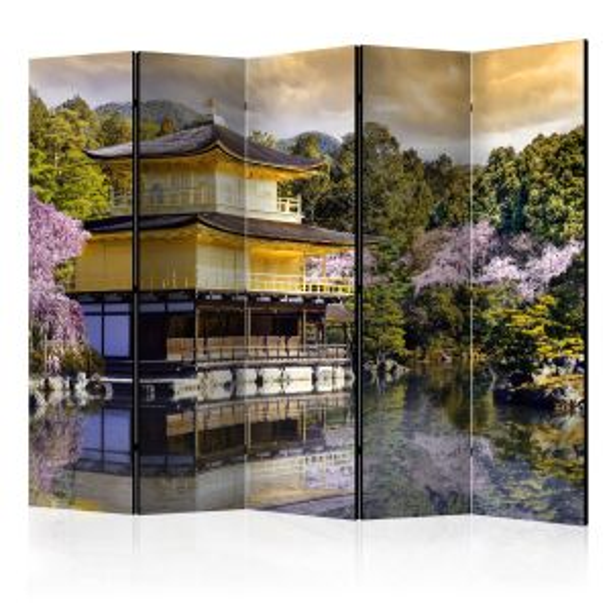 Parawan 5-częściowy - Japoński krajobraz II [Room Dividers]