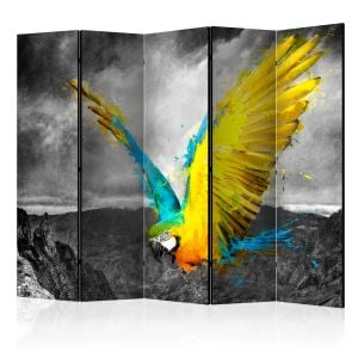 Parawan 5-częściowy - Exotic parrot II [Room Dividers]
