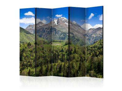 Parawan 5-częściowy - Holiday in the mountains II [Room Dividers]