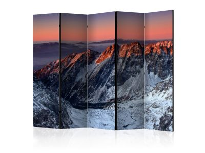Parawan 5-częściowy - Beautiful sunrise in the Rocky Mountains II [Room Dividers]