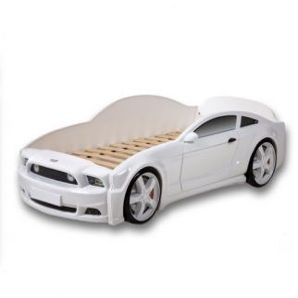 Łóżko LIGHT 3D 160x70 białe samochód