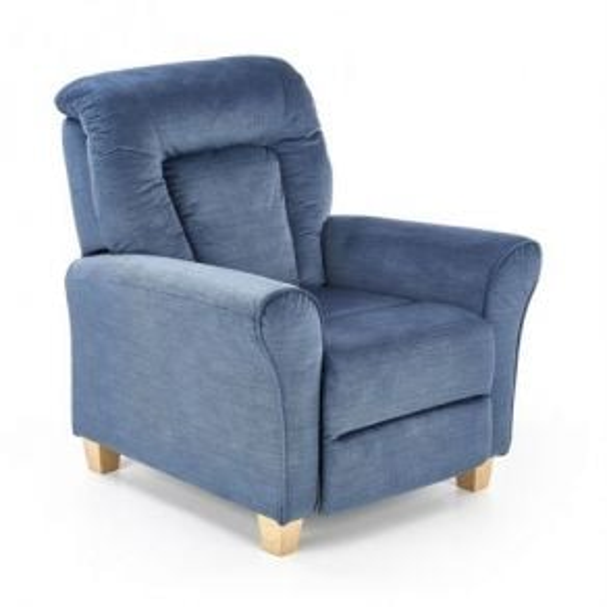 Fotel BARD niebieski rozkładany