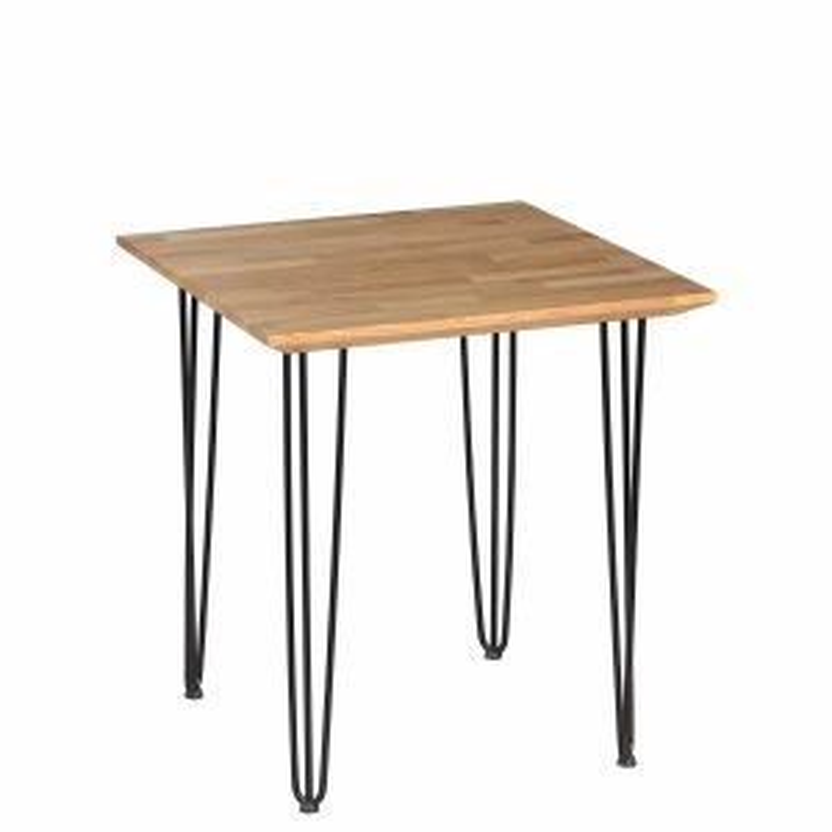 Stół IRON OAK 40 70x70 dąb/czarny