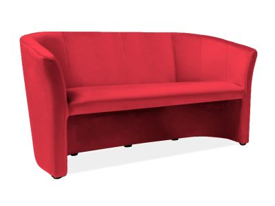 Sofa TM-3 VELVET bordowy