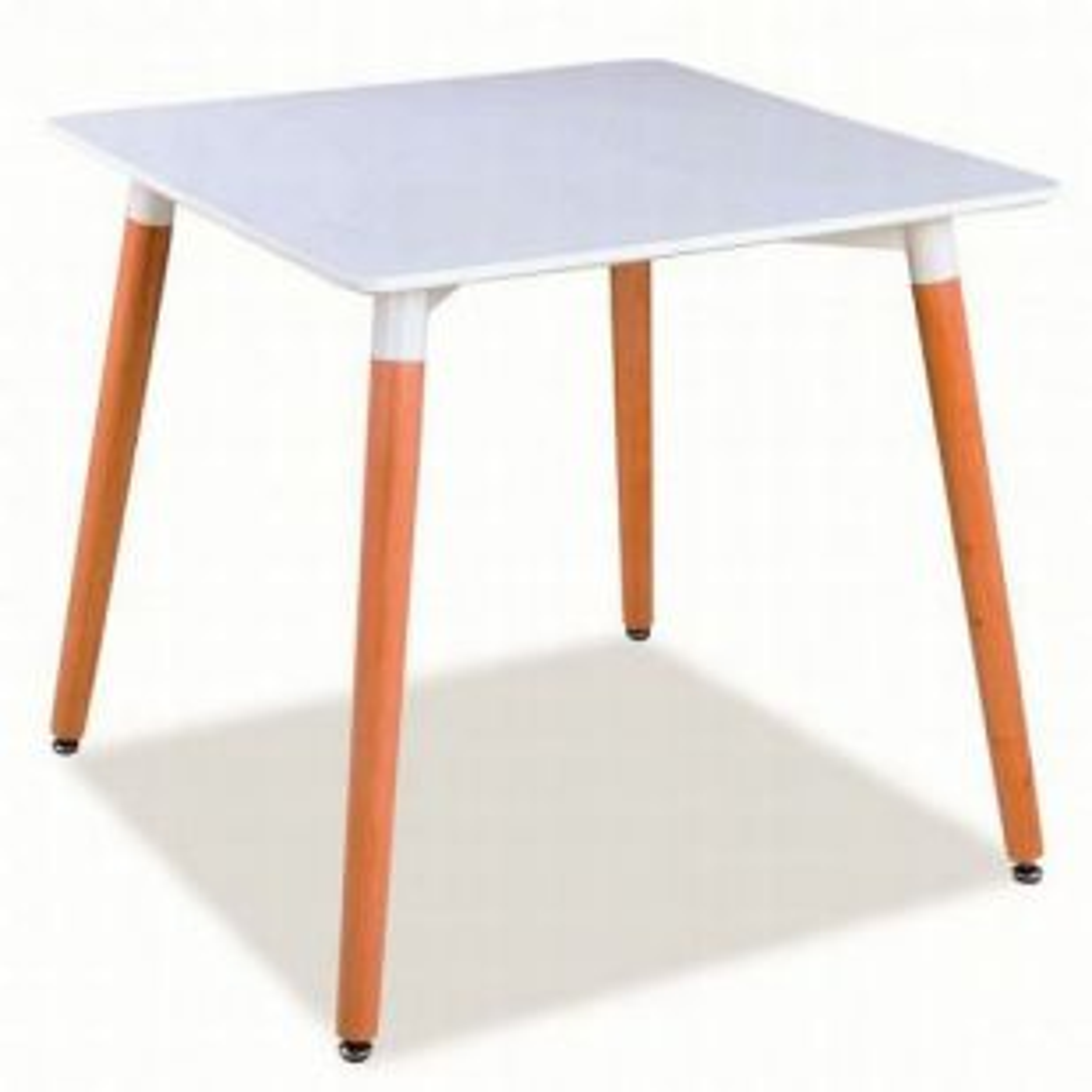 Stół NOLAN II 80x80 biały/buk